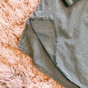H&M Tops - H&M LOGG Gray & White Striped Long Sleeve Shirt